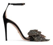 Sandale aus Lackleder mit abnehmbarer Schleife mit Kristallen