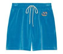 Shorts aus Baumwolle mit GG