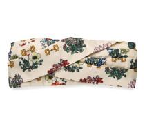 Kopfband mit Blumen- und Steigbügel-Print