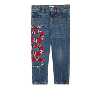 Schmale Kinder Jeans mit Schlange