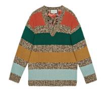 Wendbarer Pullover aus gestreifter Wolle