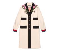 Mantel aus Wolle mit Stickerei