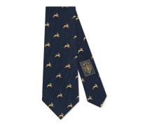 Krawatte aus Wolle und Seide mit Hasen