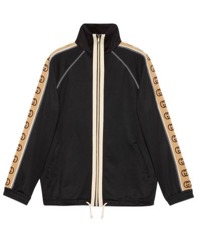 Übergroße Jacke aus technischem Jersey