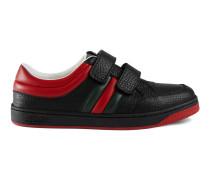 Kinder-Sneaker aus Leder mit Webstreifen