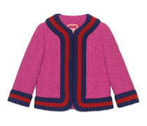 Kurz geschnittene Jacke aus Tweed