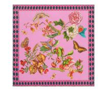 Schal aus Seide mit Garten-Ketten-Print