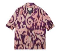 Übergroßes Bowling-Shirt mit Retro-Wirbeln
