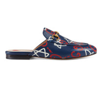 Princetown Damen-Slipper mit GucciGhost Print