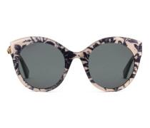 Extragroße Katzenaugen-Sonnenbrille aus Azetat