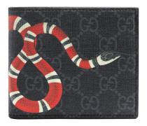 Brieftasche aus GG Supreme mit Kingsnake-Print