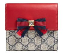 Brieftasche Grosgrain aus GG Supreme mit Überschlag