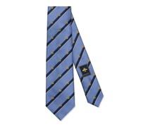 Krawatte aus gestreifter Seide mit GG