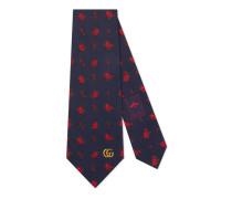 Krawatte aus Seide mit Rosen-Muster