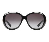 Sonnenbrille mit ovalförmigen Rahmen mit Horsebit