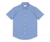 Duke Kurzarm-Hemd aus Baumwolle mit Karomuster
