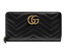 Brieftasche mit Rundumreißverschluss GG Marmont
