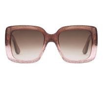 Sonnenbrille mit quadratischem Rahmen aus Optyl