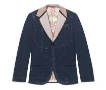 Jacke aus Wolle Mohair mit unbearbeiteten Nähten