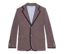 Jacke aus Jersey mit Krawattenmuster