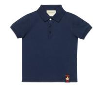 Kinder Poloshirt aus Baumwolle mit Webdetail