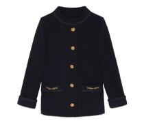 Jacke aus Tweed-Crêpe