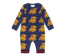 Baby Schlafanzug aus Bären-Jacquard