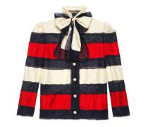 Jacke aus Seidentwill und Spitze