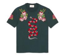 T-Shirt aus Baumwolle mit Schlange