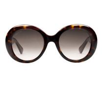Sonnenbrille mit ovalem Rahmen aus Azetat