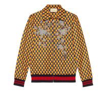 Jacke aus Jersey mit grafischem Print