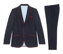 Monaco Anzug aus Wolle mit geometrischem Muster