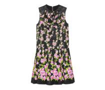 Kleid aus Seide mit Kletterrosen-Print und Halsschleife