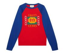 Pullover aus Baumwolljersey mit Gucci Logo