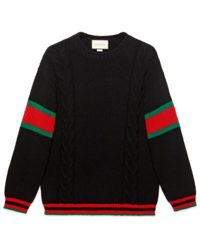 Pullover aus Zopfmusterstrick