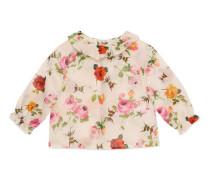 Baby Hemd mit Rosen- und Bienen-Print
