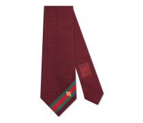 Krawatte aus Seide mit Webdetail und Bienen-Stickerei
