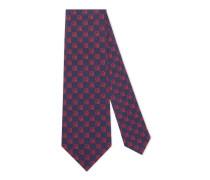 Krawatte aus Seidensablé mit GucciGhost-Motiv