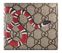Portemonnaie aus GG Supreme mit Kingsnake-Print