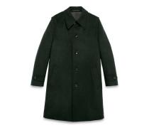 Mantel aus Loden mit einreihiger Knopfreihe