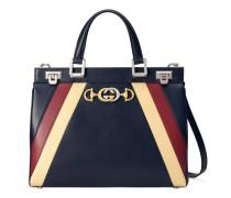 Mittelgroße Gucci Zumi Henkeltasche aus Leder