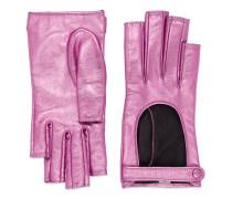 Fingerlose Handschuhe aus metallischem Leder
