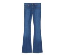 Ausgestellte Hose aus Jeans