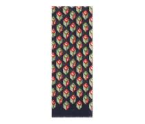 Schal aus Baumwolle und Kaschmir mit GG Wallpaper-Print