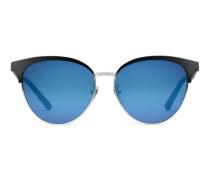 Sonnenbrille aus Azetat und Metall in Katzenaugenform
