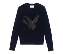 Pullover aus Wolle und Kaschmir mit Vogel