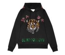 Pullover mit Kapuze und Stickerei