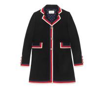 Mantel aus Wolle mit Sylvie Webstreifen