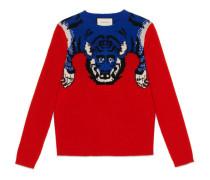 Pullover aus Wolle mit Tiger Motiv