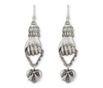 Ohrringe in Silber mit Handanhänger